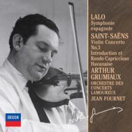 ラロ:スペイン交響曲、サン=サ−ンス:ヴァイオリン協奏曲第3番 グリュミオー、フルネ&ラムルー管(限定盤)