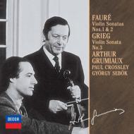 フォ−レ:ヴァイオリン・ソナタ第1番、第2番、グリーグ:ヴァイオリン・ソナタ第3番 グリュミオー、クロスリー、シェベック(限定盤)