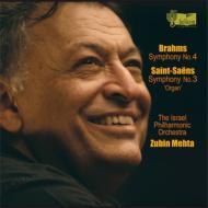 ブラームス:交響曲第4番、サン=サーンス:『オルガン付き』 メータ&イスラエル・フィル(2006、2007)
