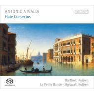 ヴィヴァルディ(1678-1741)/Flute Concertos: B.kuijken(Fl) S.kuijken(Vc Da Spalla) / La Petite Bande (Hyb)