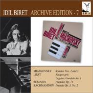 ミャスコフスキー:ピアノ・ソナタ第2番、第3番、リスト:暗い雲、スクリャービン:前奏曲、ラフマニノフ:鐘 ビレット