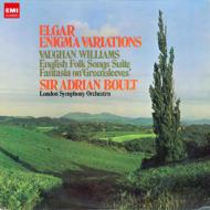 Elgar Enigma Variations, Vaughan-Williams Green Sleeves, English Folk Songs Suite : Boult / London Symphony Orchestra (Hybrid)