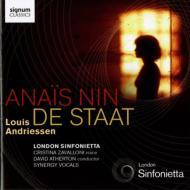 Anais Nin, De Staadt: Atherton / London Sinfonietta