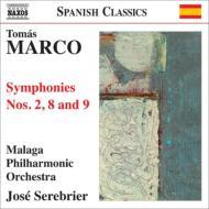 交響曲第2番『閉ざされた空間』、第8番『大地の舞曲』、第9番『タラッサ』 セレブリエール&マラガ・フィル