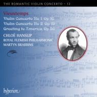 ヴァイオリン協奏曲第1番、第2番、『アメリカへの挨拶』 ハンスリップ、ブラビンズ&フランダース・フィル