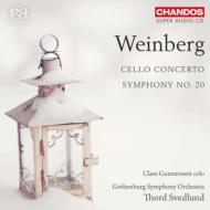交響曲第20番、チェロ協奏曲 スヴェドルンド&エーテボリ交響楽団、グンナルソン
