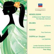 メンデルスゾーン:『夏の夜の夢』より、『フィンガルの洞窟』、ロッシーニ:序曲集、ショパン:『レ・シルフィード』、他 マーク&ロンドン響、パリ音楽院管(2CD)