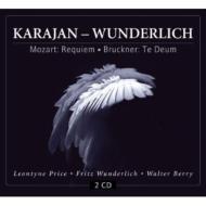 モーツァルト:レクィエム、ブルックナー:テ・デウム、他 カラヤン&ウィーン・フィル、ヴンダーリヒ、他(1960)(2CD)