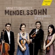 メンデルスゾーン(1809-1847)/String Quartet 1 2 : Minetti Q