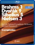 ブラームス:交響曲第1番、ドヴォルザーク:新世界より、シベリウス:交響曲第5番、ニールセン:交響曲第3番 ダウスゴー&デンマーク国立響