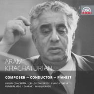 ヴァイオリン協奏曲、組曲『ガイーヌ』、『仮面舞踏会』、他 ハチャトゥリアン&プラハ放送響、モスクワ放送響、コーガン、クヌシェヴィツキー、他(2CD)