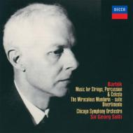 『弦楽器、打楽器とチェレスタのための音楽』、『中国の不思議な役人』組曲、ディヴェルティメント ショルティ&シカゴ響