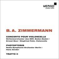 チェロ協奏曲、『フォトプトシス』、他 パルム、ブール&南西ドイツ放送響、ツェンダー&ベルリン放送響