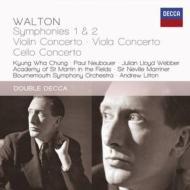 交響曲第1番、第2番(リットン&ボーンマス響)、協奏曲集(チョン・キョンファ、ノイバウアー、ロイド・ウェッバー)(2CD)