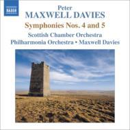 交響曲第4番、第5番 マクスウェル・デイヴィス&スコットランド室内管、フィルハーモニア管