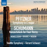 プフィッツナー:交響曲、シューマン:コンツェルトシュテュック、ブラームス:ハンガリー舞曲集、他 シュウォーツ&シアトル響