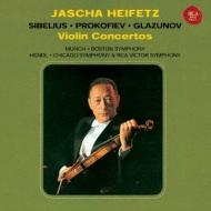 シベリウス:ヴァイオリン協奏曲、プロコフィエフ:ヴァイオリン協奏曲第2番、グラズノフ:ヴァイオリン協奏曲 ハイフェッツ、ヘンドル指揮、ミュンシュ指揮