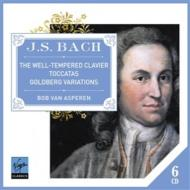 バッハ(1685-1750)/Well-tempered Clavier Goldberg Variations Toccatas: Asperen(Cemb) (Ltd)