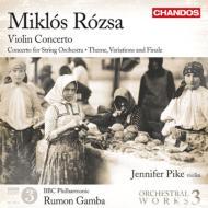 管弦楽作品集第3集〜ヴァイオリン協奏曲、他 ガンバ&BBCフィル、J.パイク