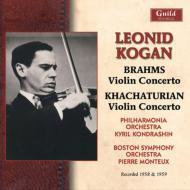 ブラームス:ヴァイオリン協奏曲、ハチャトゥリアン:ヴァイオリン協奏曲 コーガン、コンドラシン&フィルハーモニア管、モントゥー&ボストン響