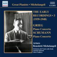 ミケランジェリ初期録音集第3集(シューマン:ピアノ協奏曲、グリーグ:ピアノ協奏曲、他)