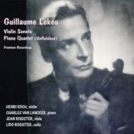 ヴァイオリン・ソナタ、ピアノ四重奏曲 アンリ・コック、シャルル・ヴァン・ランケル、他(平林直哉復刻)