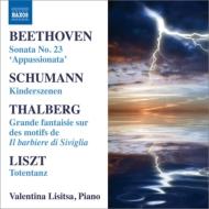 ベートーヴェン:ピアノ・ソナタ第23番『熱情』、シューマン:子供の情景、リスト:死の舞踏、タールベルク:『セヴィリャの理髪師』大幻想曲 リシッツァ