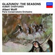 グラズノフ:『四季』、オーベール:序曲集 A.ヴォルフ&パリ音楽院管弦楽団