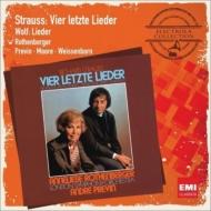 R.シュトラウス:4つの最後の歌、管弦楽伴奏付き歌曲集、ヴォルフ:歌曲集 ローテンベルガー、プレヴィン&ロンドン響、ムーア、ヴァイセンボルン