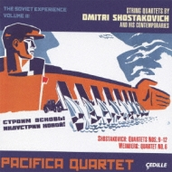 ショスタコーヴィチ(1906-1975)/String Quartet 9 10 11 12 : Pacifica Q +vainberg: Quartet 6 : (The Sovie