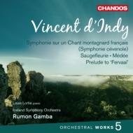 管弦楽曲集第5集(フランスの山人の歌による交響曲、他) ガンバ&アイスランド響、ロルティ