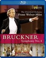 ブルックナー (1824-1896)/Sym 4 : Welser-most / Cleveland O
