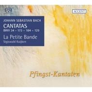 バッハ(1685-1750)/Cantata.34 129 173 184 (Vol.16): S.kuijken / La Petite Bande Etc (Hyb)