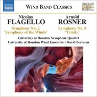 フラジェッロ:風の交響曲、オデッセイ、ロスナー:交響曲第8番『三位一体』、他 ヒューストン大学ウィンド・アンサンブル