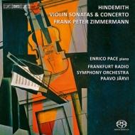 ヴァイオリン協奏曲、ヴァイオリン・ソナタ集 フランク・ペーター・ツィンマーマン、P.ヤルヴィ&フランクフルト放送響、パーチェ