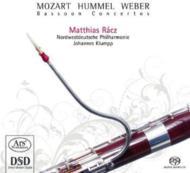 Mozart, Hummel, Weber: Bassoon Concerto: Racz(Fg)Klump / Nwd Po