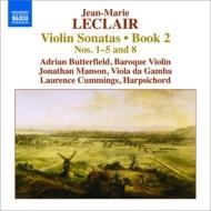 ヴァイオリン・ソナタ作品2 第1、2、3、4、5、8番 バターフィールド、J.マンソン、L.カミングス