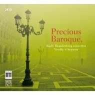 バッハ:ブランデンブルク協奏曲全曲(ベルダー&ムジカ・アンフィオン)、ヴィヴァルディ:四季(カサッツァ&ラ・マニフィカ・コムニタ)(2CD)