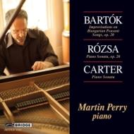 ローザ:ピアノ・ソナタ、バルトーク:即興曲、カーター:ピアノ・ソナタ マーティン・ペリー