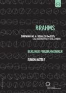 Brahms Symphony No.4, Double Concerto, Wagner Parsifal prelude : Rattle / Berlin Philharmonic, Batiashvili, Mork (+cataloque)