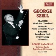 ブラームス:交響曲第2番、モーツァルト:ピアノ協奏曲第27番、ストラヴィンスキー:花火、他 セル&ケルン放送響、カサドシュ(1958)