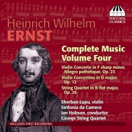 Complete Music For Violin & Piano Vol.4-concerto, Etc: S.lupu(Vn)Hobson / Co Ciompi Sq