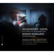 ムソルグスキー:展覧会の絵、リムスキー=コルサコフ:シェエラザード クリヴィヌ&ルクセンブルク・フィル(日本語解説付)