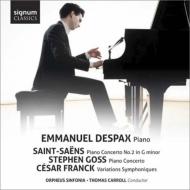 サン=サーンス:ピアノ協奏曲第2番、ゴス:ピアノ協奏曲、フランク:交響的変奏曲 デスパ、T.キャロル&オルフェウス・シンフォニア