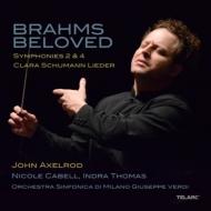 ブラームス:交響曲第2番、第4番、クララ・シューマン:歌曲集 ジョン・アクセルロッド&ミラノ・ジュゼッペ・ヴェルディ響、トーマス、キャベル(2CD)