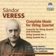 Concerto For String Quartet: Basel Sq Schultsz / Hungarian So +string Quartet, 1, 2,