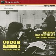 チャイコフスキー:ピアノ協奏曲第1番、フランク:交響的変奏曲 ジョン・オグドン、バルビローリ&フィルハーモニア管弦楽団(180グラム重量盤)