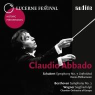 シューベルト:未完成(ウィーン・フィル 1978)、ベートーヴェン:交響曲第2番、ワーグナー:ジークフリート牧歌(ヨーロッパ室内 1988) アバド(ステレオ)