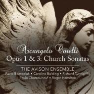 教会ソナタ集Op.1&3 ベズノシウク&エイヴィソン・アンサンブル