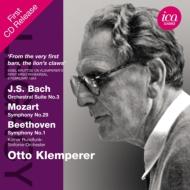 ベートーヴェン:交響曲第1番、モーツァルト:交響曲第29番、バッハ:管弦楽組曲第3番 クレンペラー&ケルン放送響(1954、55)